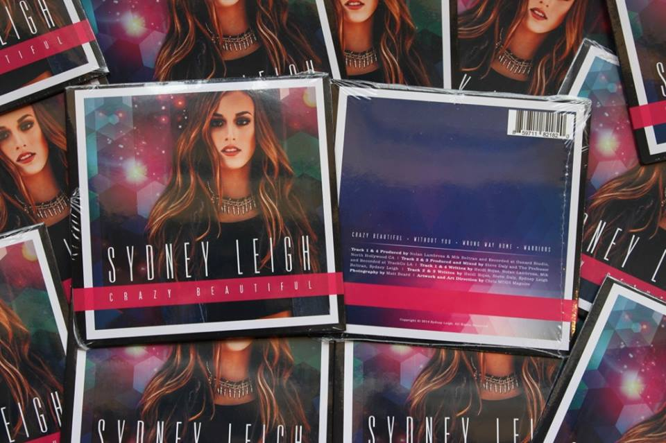 Hot off the press!!! Sydney Leigh Crazy Beautiful EP Cd's available. Contact me through my email (sydney@sydneyleighmusic.com) for purchase ($5 each)!!