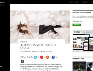 The Daily Album – Sydney Leigh Interview